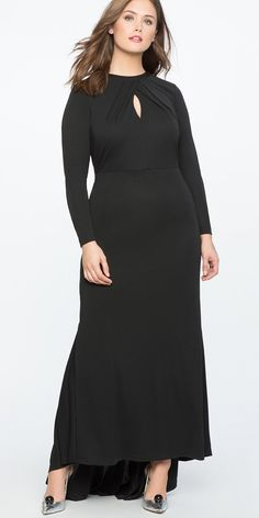 View our Keyhole Neckline Gown and shop our selection of plus size designer women's Dresses, plus size clothing and fashionable accessories. Plus Size Party Dresses, Evening Dresses Plus Size, Unique Prom Dresses, Mob Dresses, Tea Length Dresses, Plus Size Outfits, Short Dresses, Dresses With Sleeves, Bride Dresses