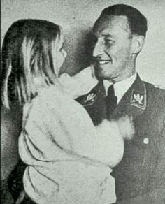 Reinhard Heydrich with his daughter Silke not long before his death. He was one of the chief architects of the Holocaust.