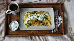 W kuchni Zouuzy: Śniadanie - omlet z zielonymi warzywami