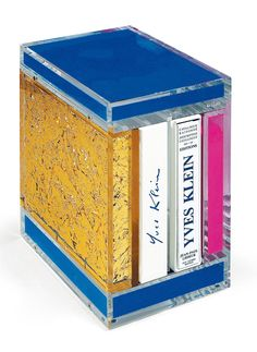 YVES KLEIN Catalogue in plexiglass box (IKB, Rose and Gold) 2000