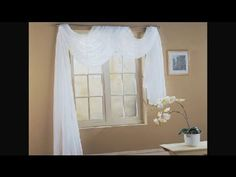How to Fold a Scarf for Window Decorating : Unique Interior Decorating Ideas - YouTube