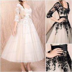 Long modest black lace prom dresses,classic cheap homecoming dress with 3/4 sleeves hot,unique elegant gowns for wedding party