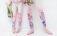 Daypring   leggings for children by ZIBtextile on Etsy, $30.00