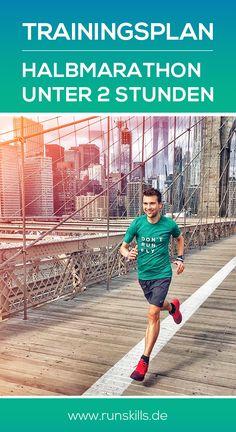 Der 14-Wochen-Trainingsplan hilft dir dabei, dein Ziel, den Halbmarathon unter 2 Stunden zu laufen, zu realisieren. #halbmarathon #halfmarathon #trainingsplan