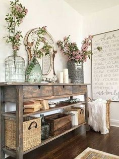 Gorgeous entry way look #ShopStyle #shopthelook #HomeDecor #FarmhouseDecor #RusticDecor