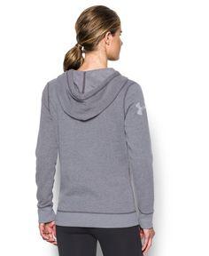 Grey NEW Under Armour Women/'s Fleece Word Mark Popover Size:Medium