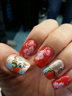 20 best chinese new year nail designs images  new year's