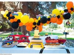 Construction Birthday Parties, 3rd Birthday Parties, Boy Birthday, 1st Birthdays, Heaven Birthday, Construction Party Decorations, Birthday Ideas, Birthday Banners, Third Birthday