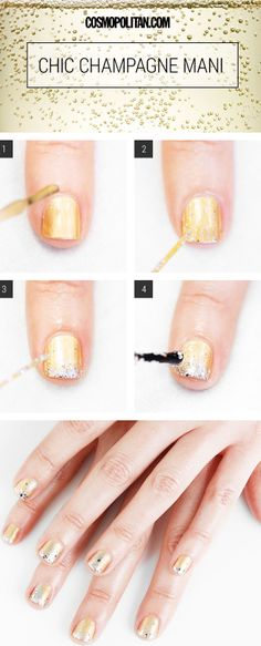 How to do champagne nails