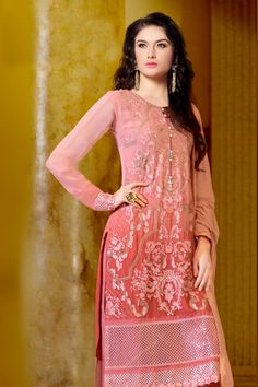Pink Faux Georgette Salwar Kameez with Embroidered and Lace Work - Z2525P2607-2 #casual #officewear #salwar #kameez @ http://zohraa.com/salwar-kameez.html #celebrity #zohraa #onlineshop #womensfashion #womenswear #bollywood #look #diva #party #shopping #online #beautiful #beauty #glam #shoppingonline #styles #stylish #model #fashionista #women #lifestyle #fashion #original #products #saynotoreplicas