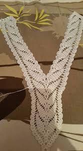 Image associée Crochet Baby, Art Au Crochet, Crochet Yoke, Crochet Lace Edging, Crochet Collar, Lace Collar, Crochet Motifs, Crochet Borders, Fleur Crochet