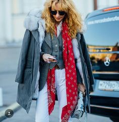 Fashion winter red gray