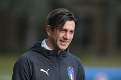 Federico Bernardeschi of Italy looks on prior to the training session at Italy club's training ground at Coverciano on November 6, 2017 in Florence, Italy.