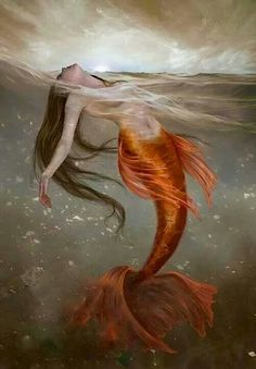 Beuty red mermaid ♡