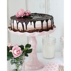 Strawberry Nutella Cake - Recipe on my blog