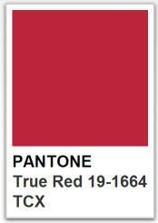 PANTONE 19 1664 True Red / Color of the year 2002
