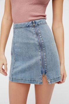 Miniskirt Casual Dresses Black Summer Dress Jean Skirts For Girls Mode – Dearmshe Modest Denim Skirts, High Waisted Denim Skirt, Denim Skirt Outfits, Sporty Outfits, Jeans Dress, Jean Skirts, Modest Outfits, Fall Outfits, Denim Shorts