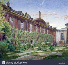 Christ's Hospital, Newgate Street, City of London, 1881. Artist: John Crowther Stock Photo