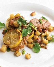 Pan-Seared Pork with Potatoes and Lemon - Martha Stewart Recipes