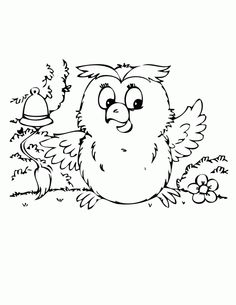 Cute Baby Owl Coloring Page