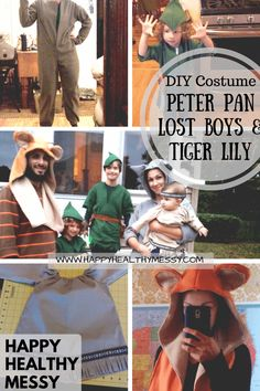 DIY Halloween Costume Peter Pan, the Lost Boys, & Tiger Lily