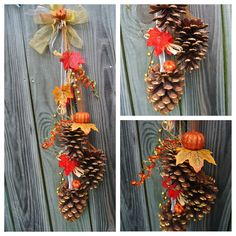 I really liked the glitter effect I had to create this Pine Cone Cluster. Pine Cone Art, Pine Cone Crafts, Pine Cones, Pine Cone Decorations, Harvest Decorations, Thanksgiving Decorations, Diy Fall Wreath, Fall Diy, Fall Wreaths