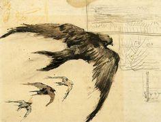 Four Swifts, 1887 - Vincent van Gogh
