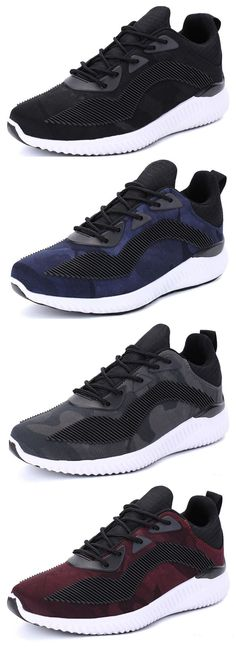 cheaper 42d53 e86b2 Men Mesh Fabric Color Blocking Breathable Running Shoes Casual Sneakers  Best Running Shorts, Running Shoes