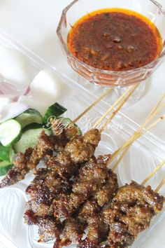 Satay Goreng Yang Mudah Dan Sedap Keema Recipes, Meat Recipes, Asian Recipes, Chicken Recipes, Ethnic Recipes, Recipies, Food N, Food And Drink, Malaysian Food