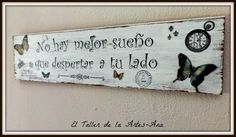 cuadros vintage con frases by karyn Pallet Crates, Decoupage Vintage, Vintage Country, Business Design, Wooden Signs, Home Deco, Diy Art, Diy And Crafts, Shabby Chic