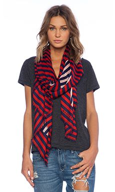 Marc by Marc Jacobs Graphic Charles Dot Scarf in Cambridge Red Multi