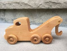 Wooden Toy Truck Set // The Pane Perso Work Fleet // la flotta