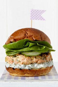 Tzatziki Salmon Burger