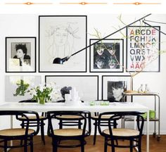 This is my dream dining room in my alternate reality where I don't have kids and don't live in the burbs