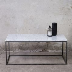 LAPIS Long Couchtisch Marmor Weiss Coffee Table White Marble