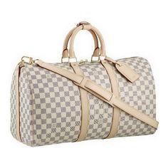 Louis Vuitton Bags Keepall 55 Shoulder Strap Grey N41429