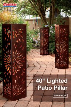 With a modern yet elegant design, this lighted pillar turns your home, lawn, garden or patio into an oasis. Illuminated with 80 LED lights, it includes a garden stake for extra stability on soft surfaces. Shop now at Costco.com.