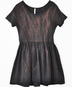 metallic babydoll dress