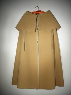 "Vintage '53 '77 ""Sills Bonnie Cashin"" 100 Wool Cape Leather Trim Turnlock   eBay"