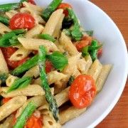 "For the Love of Cooking » Tomato and Asparagus ""Carbonara"""