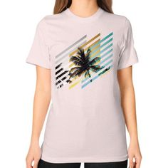 California Living Unisex T-Shirt (on woman)