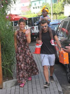 Giovanna Ewbank, Bruno Gagliasso e Tití (Foto: Daniel Delmiro/AgNews)