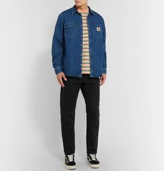 Carhartt Newel Tapered Cotton-drill Trousers In Black Carhartt Wip, Vans Sneakers, Looks Cool, Men's Style, Work Wear, Drill, That Look, Trousers, Mens Fashion