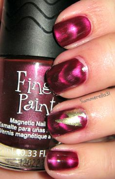 magnetic nail polish is amazing and a must have for girls who love there nails it adds texture to boring nail polish