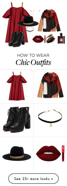 """""""Chic autumn"""" by luanna98 on Polyvore featuring Anna October, Janessa Leone, Lime Crime and Yves Saint Laurent"""