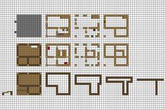 Minecraft floorplan small farmhouse by ColtCoyote.deviantart.com on @DeviantArt