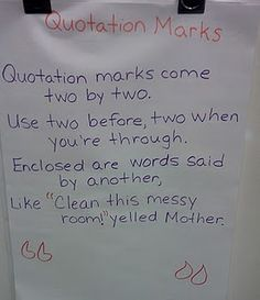 I am teaching dialogue punctuation this week, this might be a helpful poem for them