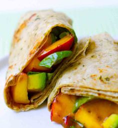 Peach Basil Avocado Balsamic Wrap ...http://bestomnom.com/peach-basil-avocado-balsamic-wrap/