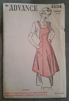 "Advance 4604: This apron is the ""Adjustable Apron"" and is included in the USDA Farmers' Bulletin No.1963 (1947 & 1952 editions)."