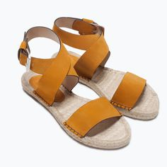 ZARA - NEW THIS WEEK - LEATHER ESPADRILLE SANDALS